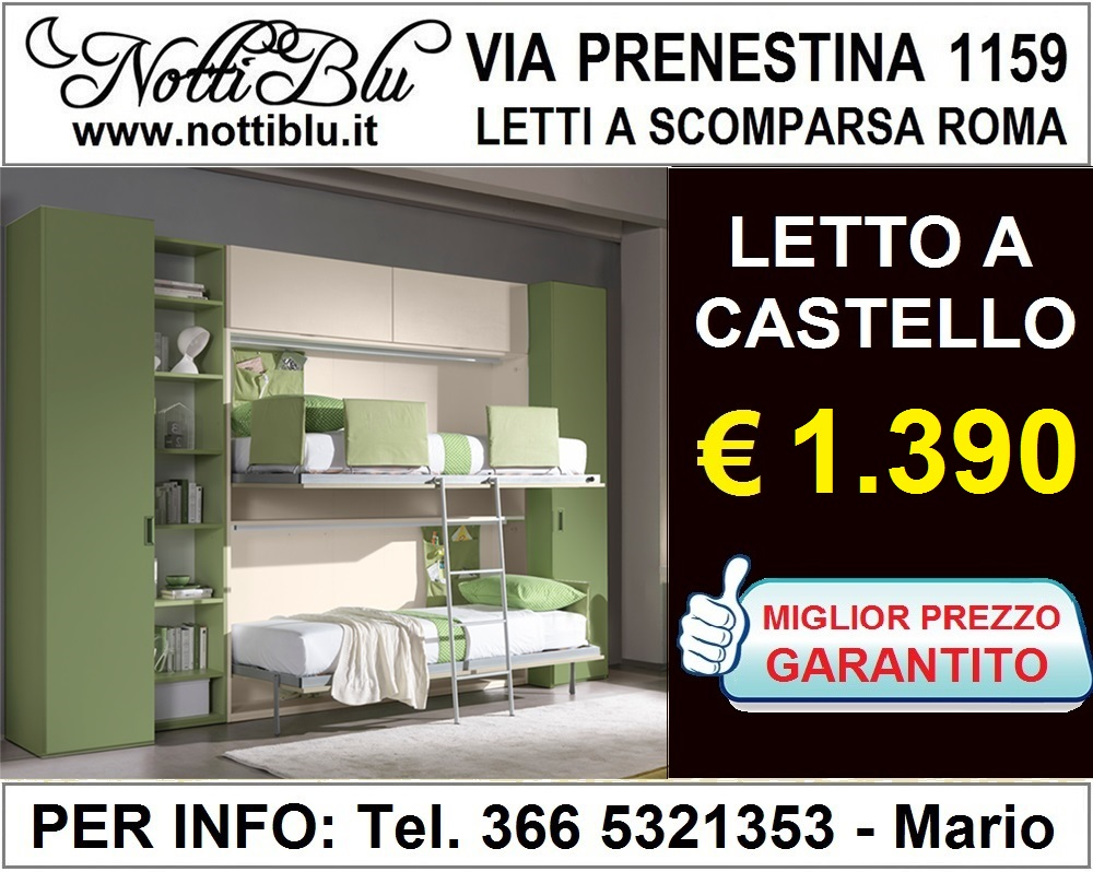 Offerta letto a castello camerette miglior prezzo € 1390