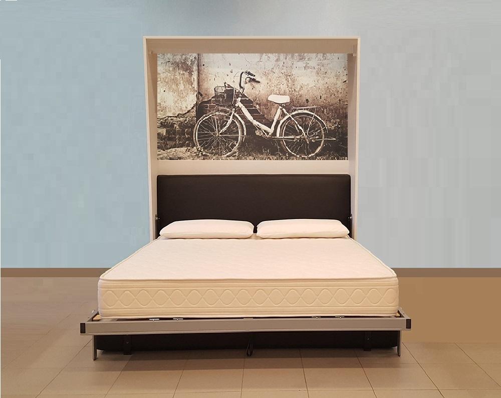 Offerta letto a scomparsa 2 piazze con divano contenitore 1690 - Divano letto 2 piazze ...